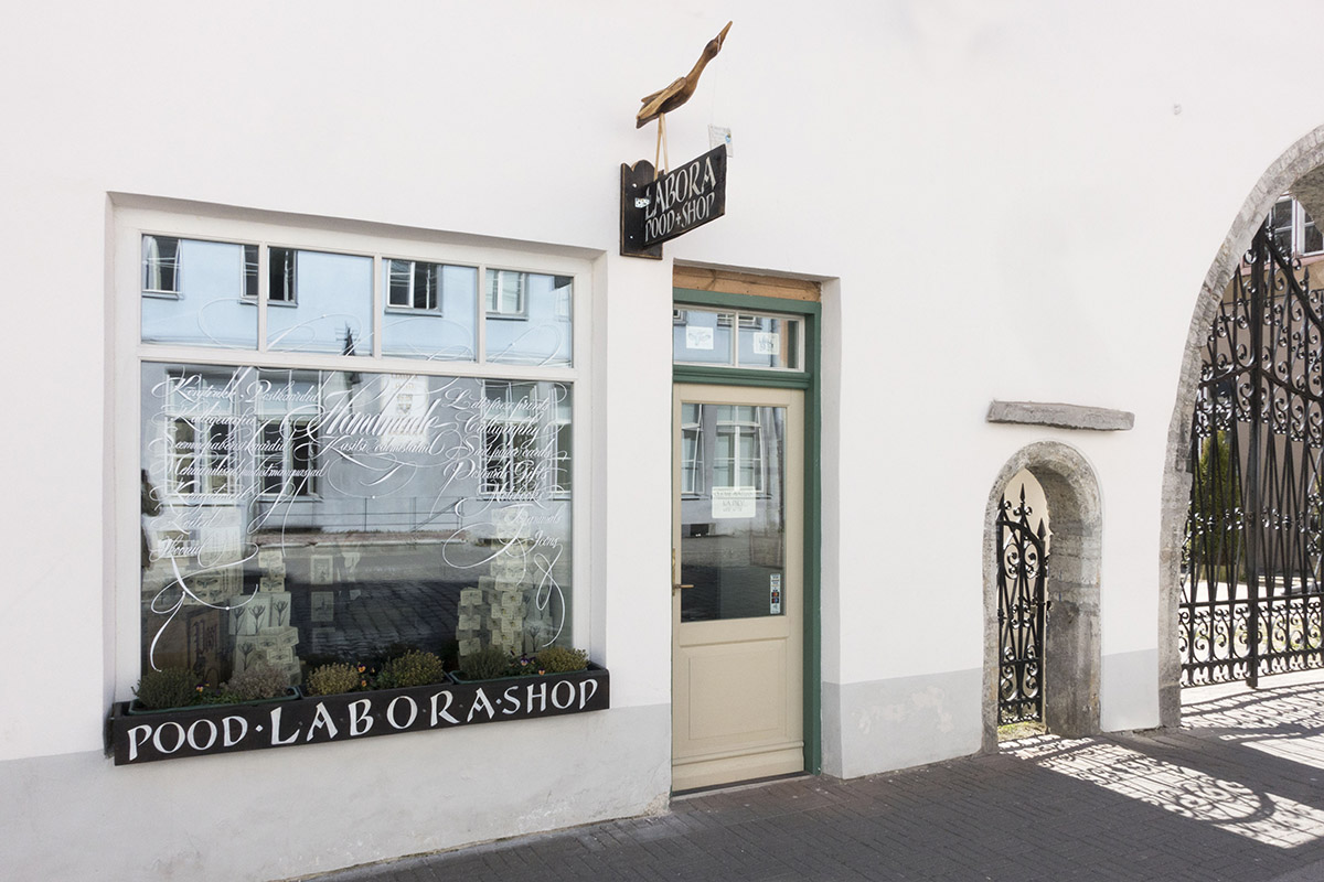 Entrance to Labora Shop