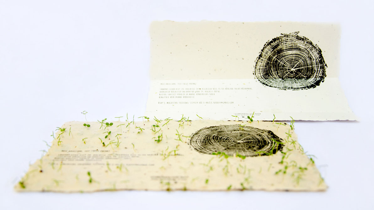 growing seed paper wedding invitation