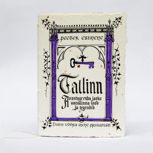 Tallinn legend letterpress printed on handmade paper