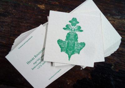 Letterpress printed business card
