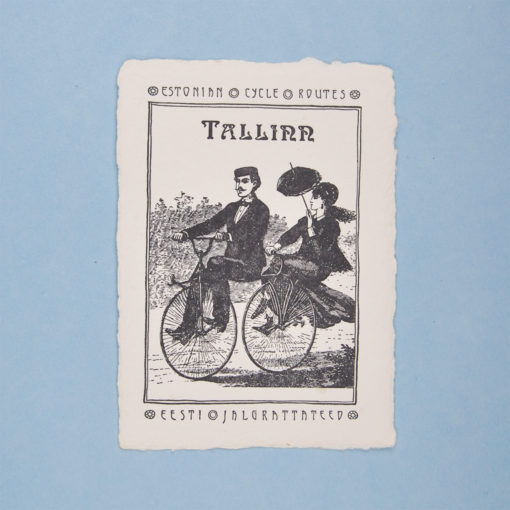 Postcard couple illustration