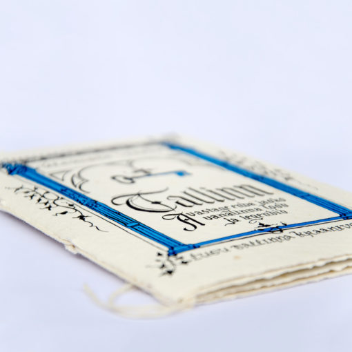 tallinn legend letterpress printed on handmade paper