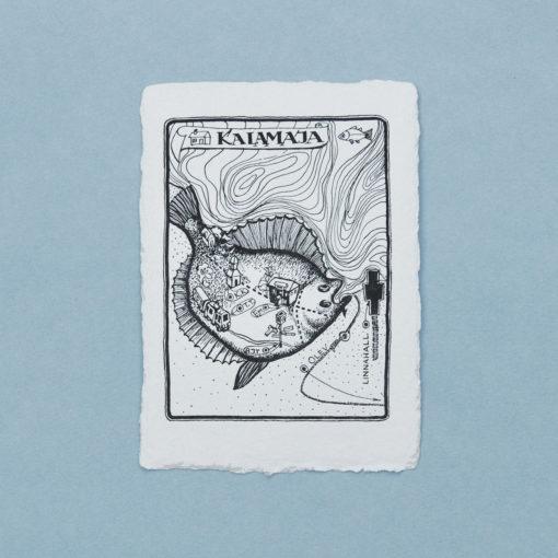 Kalamaja Flatfish Postcard