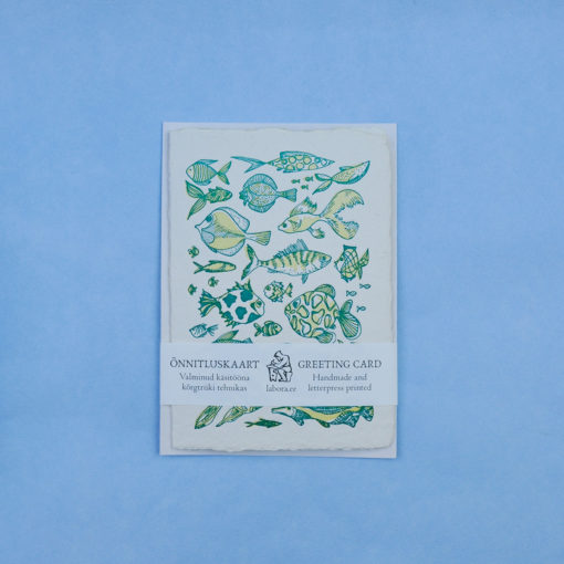 Fish Pattern Postcard Greeting card